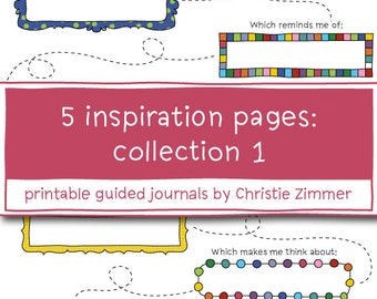 5 Printable Inspiration Pages - Collection 1