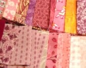 "Pre-cut Quilting Squares, Cotton fabric 2"" squares - QTY 90- Pink"