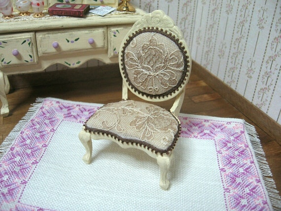 Chair style shabby/victorian - Miniature for dollhouses Fourniture scale 1:12