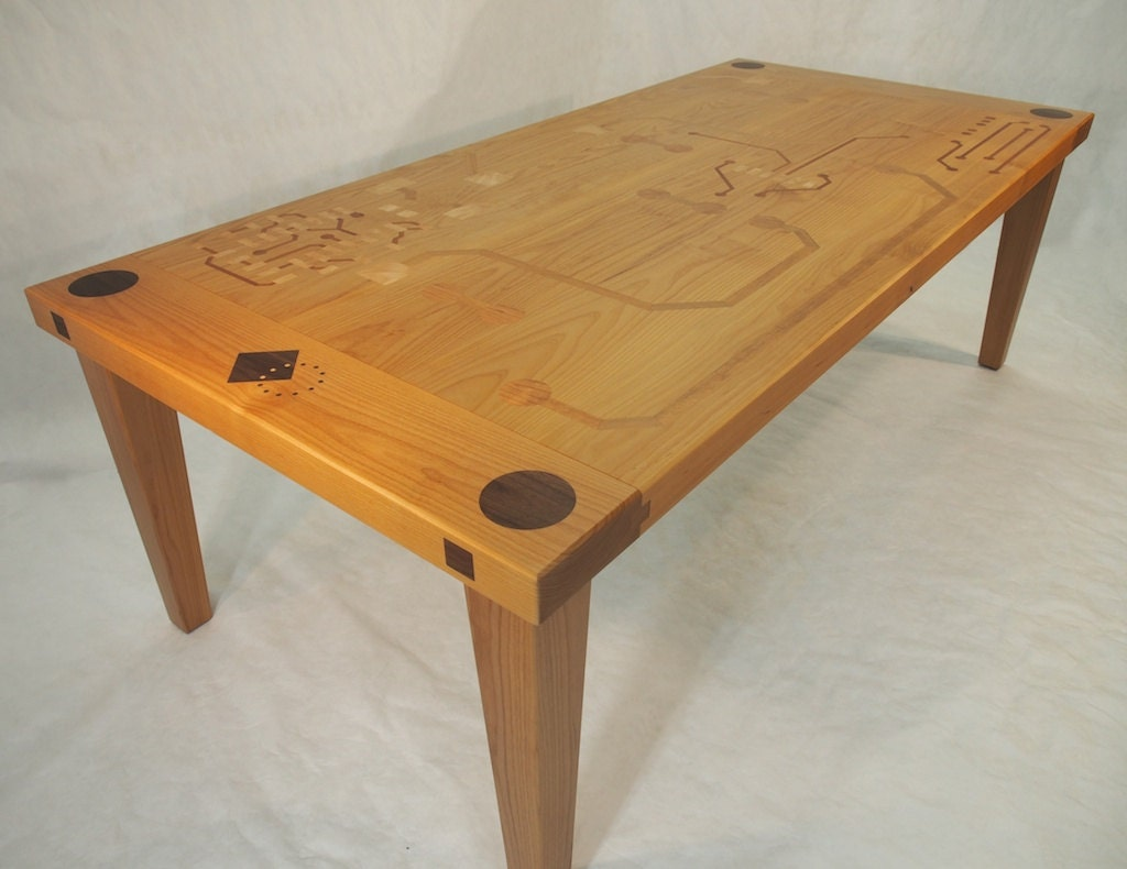 Dining room table with circuit board inlay by perfect45degree - Table circuit ...