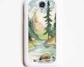 Samsung Galaxy S4 Case. Vintage Paint By Numbers Mountains. Samsung S4 Cases.