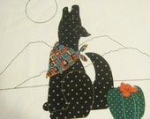 Cut and Sew Out of Print Vintage V.I.P. Cranston Howling Coyote Fabric Panel