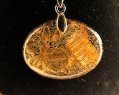 Gold bee ORGONE charm necklace