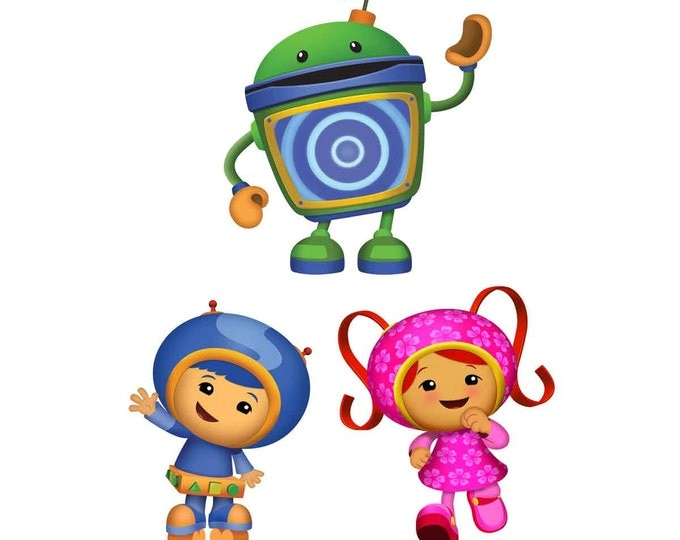 Team Umizoomi centerpiece: great for birthday parties, shirts, walls and more