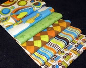 "BUiLD A QUiLT - Rag Quilt Kit Designer Riley Blake ON THE GO Brand New Fabric  48 6"" Riley Blake Sqs"