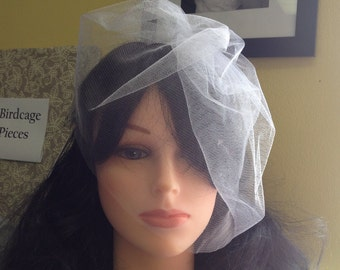 Veil on headband, veil for short hair, available in white or ivory, tulle veil on headband, wedding veil for short hair, petite veil
