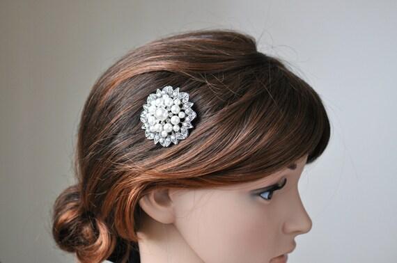Vintage Inspired bridal hair comb, pearl hair comb, wedding hair comb, bridal hair accessories, wedding hairal - Wedding