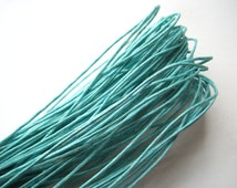 Aqua Waxed Cotton Cord, Aqua Waxed String, 10 yds (30 ft), 1mm Waxed Cotton Cord, Bracelet Cord, Knotting Cord