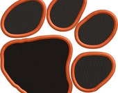 Tiger Paw -  Filled Embroidery  file - FILE ONLY