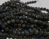 9mm - 10mm Green Labradorite Round Beads