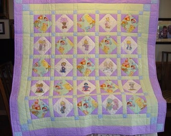 Embroidered PRECIOUS MOMENTS Baby Quilt