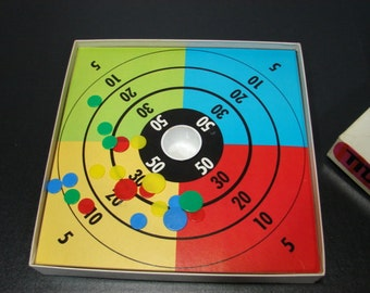 Whitman Tiddly Winks Game made in 1966 Vintage Board Game Fun Retro Graphics