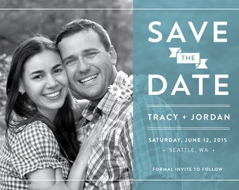 Transparent Save the Date Card
