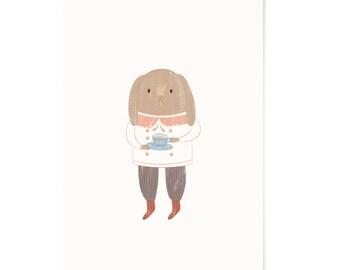Art Print - Illustration Print - Rabbit