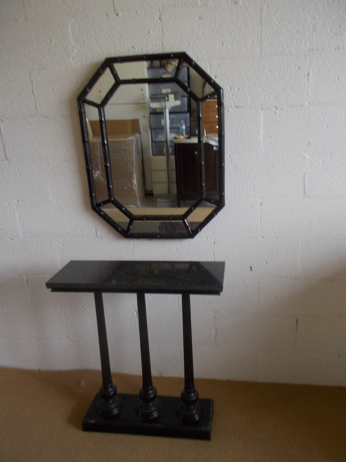 Mid century hollywood regency style marble and triple - Table vitroceramique 2 foyers ...