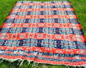 Antique 1835 Jacquard Coverlet from Lebanon County, Pennsylvania