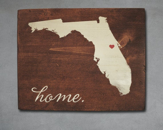 Items Similar To Florida State Wood Art. Personalized Home