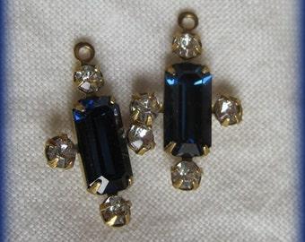 Montana Swarovski Crystal Red Multi 5 Stone Rhinestone 19MM Brass Rectangle