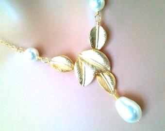 Wedding Necklace, Statement Necklace, Pendant, Personalized Necklace,Pearl Necklace,  Wedding Necklace, Bridemaid Gift