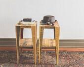 Jack and Jill Nightstands Handmade from repurposed pallet wood SALE PRICE