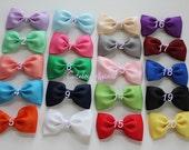 10% off - 10 NONE SLIP tuxedo hair bow - bow - bow tie hair bows -  bow tie hair clip - small bow tie - baby girl hair bow - small baby clip