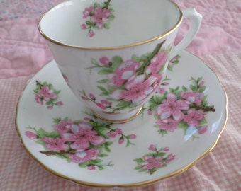 Small Tea Cup and Saucer (Demi Tasse) Bone China New Chelsea