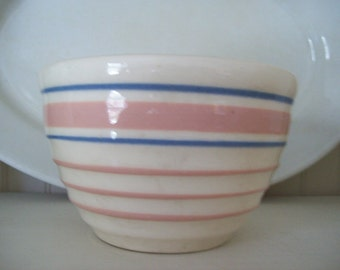 Small USA pink and blue rimmed bowl