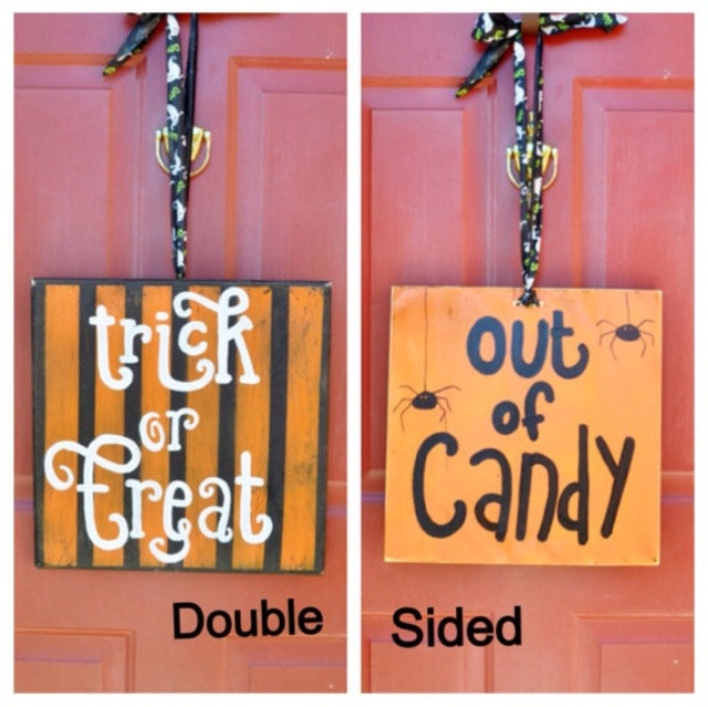 Halloween Door Or Yard Wood Sign 12x12