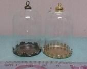 25 mm Glass Cloche Dome Miniature for 1:12 scale
