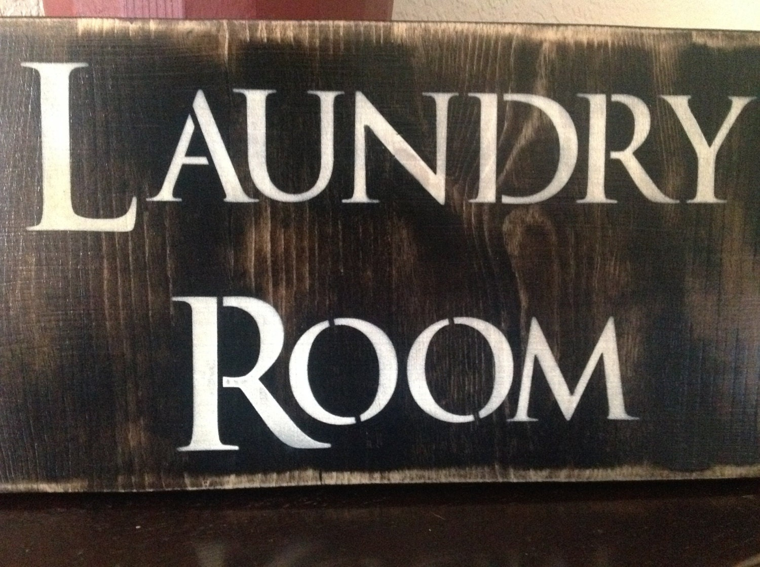 laundry room wood vintage sign wash fold wall decor