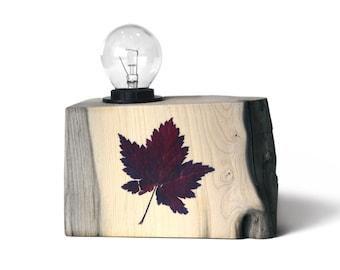 Driftwood lamp. Icelandic Leaf Lamp. Modern table lamp. Scandinavian design.