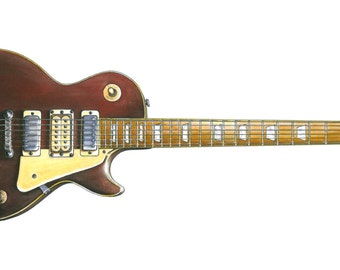 Pete Townshend's #5 Gibson Les Paul Greeting Card, DL size