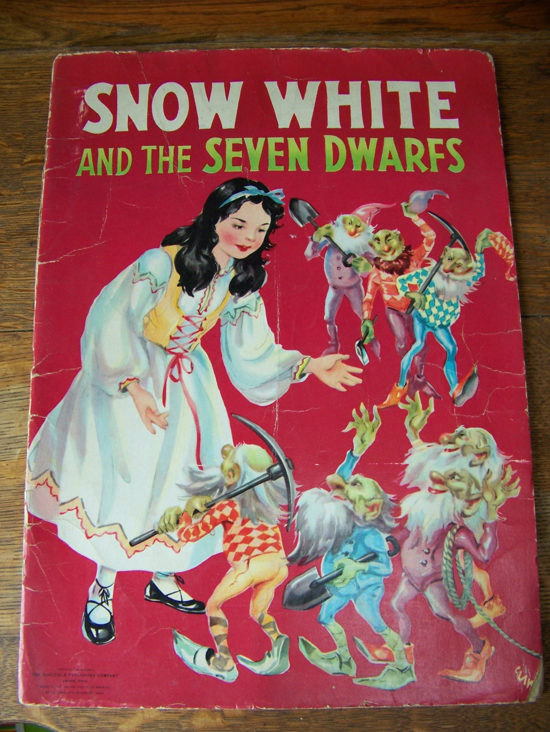 Vintage 1938 Snow White and the Seven Dwarfs Little Red
