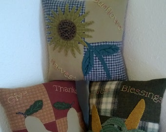 PDF Fall Trio Pillow Set - Wool Pattern- Pillows- Home Decor