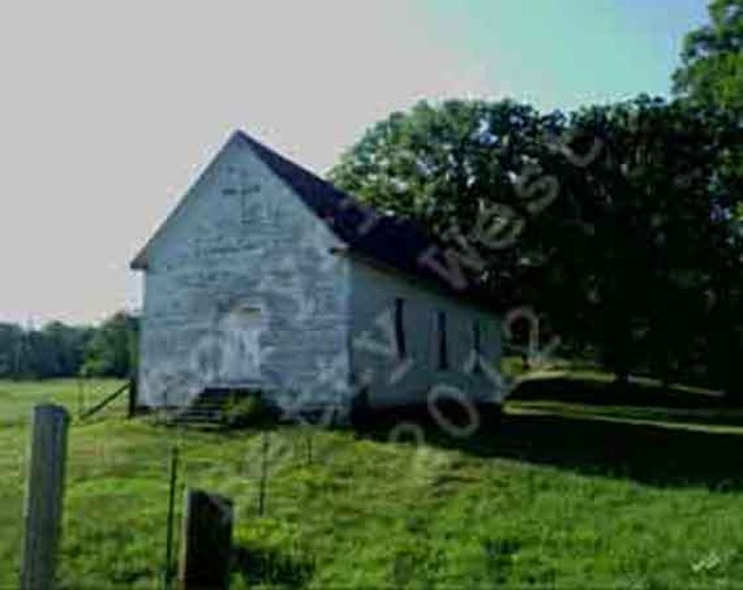 Old Church on side of road photograph