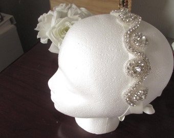 Wedding Headband, Crystal Rhinestone Headband