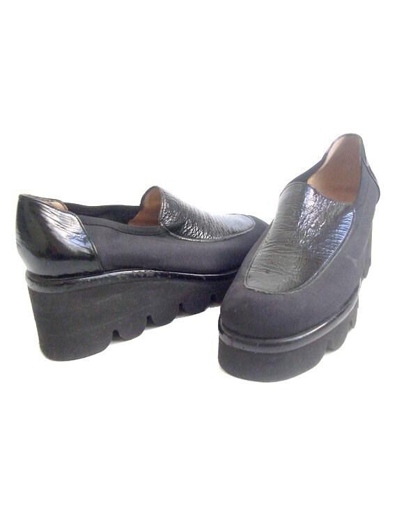 us 7 5 90s platform shoes fonteneau made in by lesclodettes