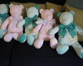 Five Custom Teddy Bears