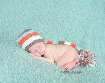 Striped Pom-Pom hat