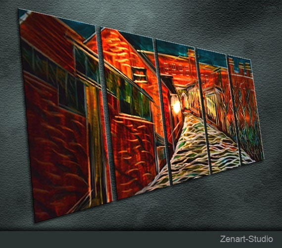 Large Original Metal Wall Art Abstract Painting Sculpture Indoor