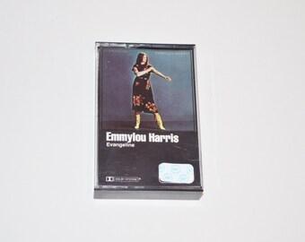 Emmylou Harris Evangeline Vintage Cassette Tape, 80's Music, 1981