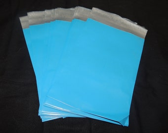 20 Bright Blue 6x9 Poly Mailer Envelopes, 6x9 Flat Self Sealing Poly Mailing Flat Plastic Shipping Bag Mailers
