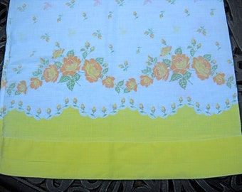 Charming Pillowcase, Yellow Flowers, Vintage, Smaller