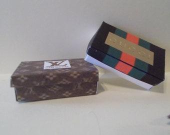 DS-7   Miniature shoe boxes set of 2