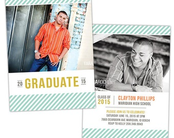 Senior Graduation Announcement Photo Card Template for Photographers - Photoshop Templates for Photographers - Photo Card Template - GD126