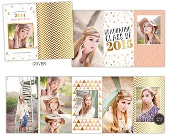 4x8 Accordion Book Template - Senior Book Album Template - Photoshop Templates for Photographers - AB103