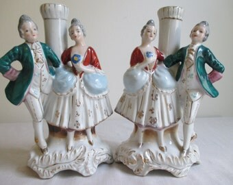 Vintage Made in Occupied Japan Lady and Gent Figurines