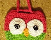 Owl Purse, Crocheted Purse, Purse for Girl, Owl, Bag, Purse, Little Girl, Small Bag, Small Purse, Unique Gift Pouch, Birthday Gift