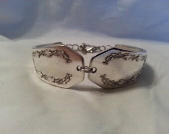 Spoon Bracelet, Vintage, Silverware Jewelry, Spoon Jewelry, Silver Bracelet