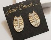 """Laurel Burch Cat Earrings """"Native Cats"""""""
